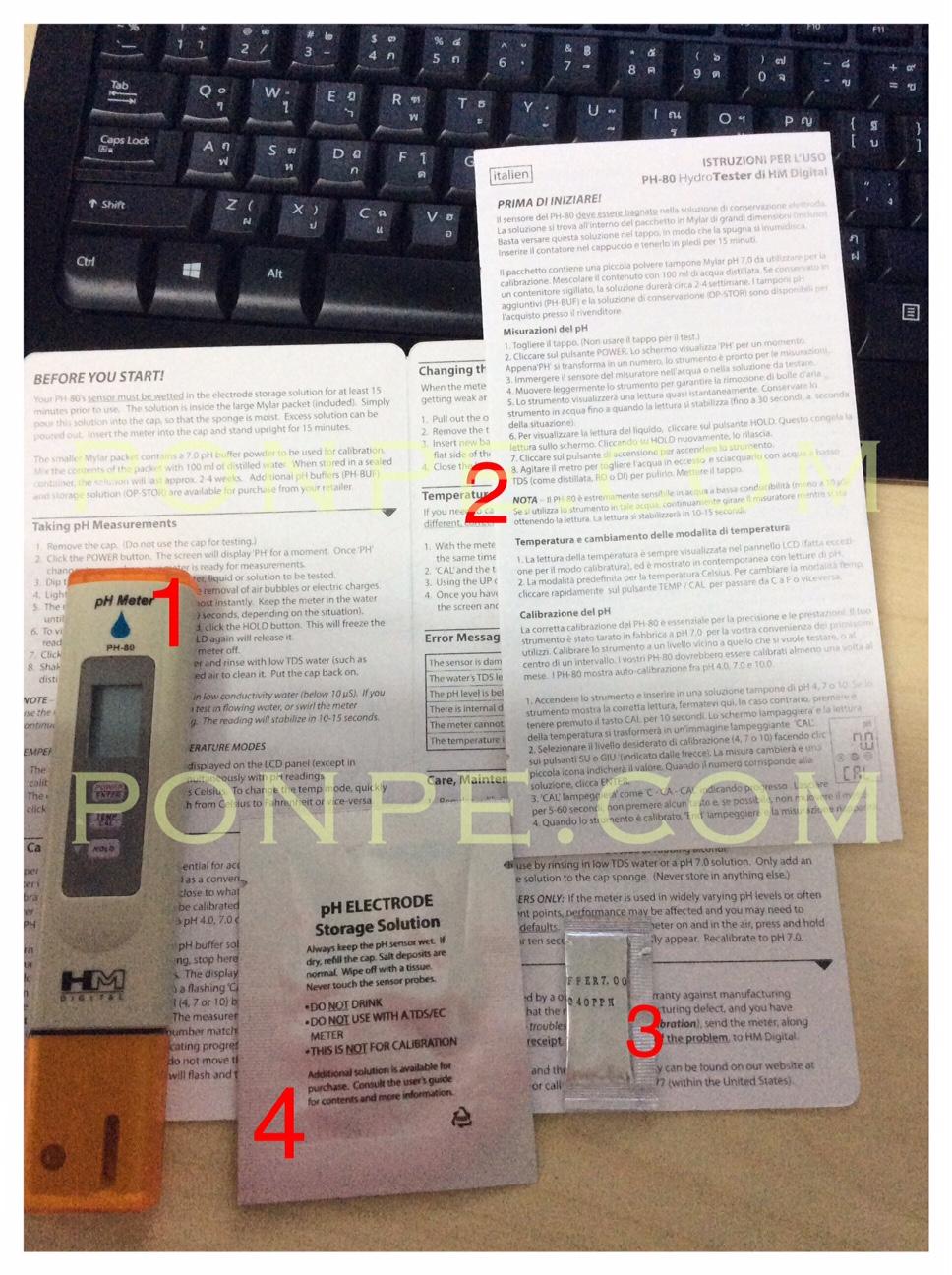 pH Meter PH-80 Package set