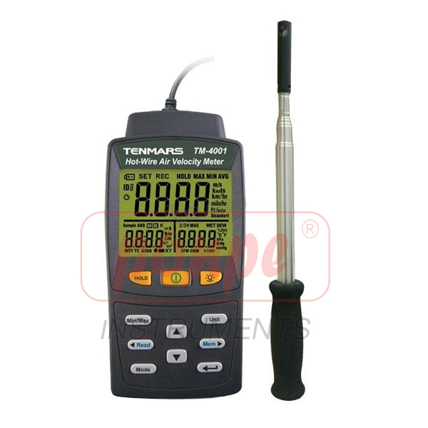 Hot-Wire Air Velocity Meter TM-4002